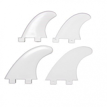 FCS COMPATIBLE QUAD FINS SET - WHITE